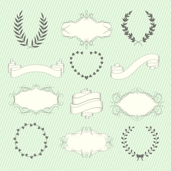Zestaw elementów ślubnych