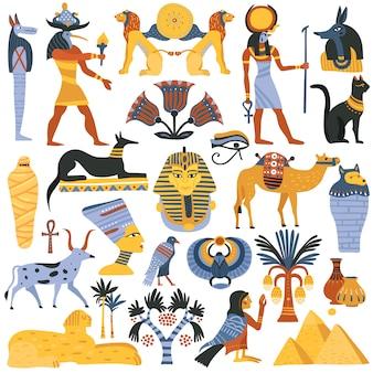 Zestaw elementów starożytnej religii egipskiej