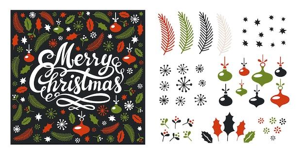 Zestaw elementów świątecznych