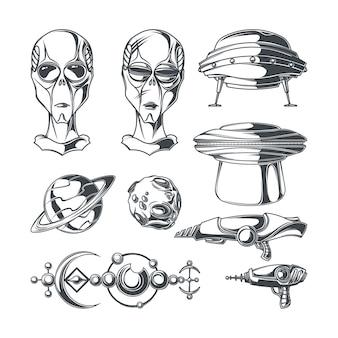 Zestaw elementów ufo