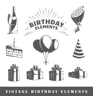 Zestaw elementów urodzin