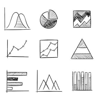Zestaw elementów wykresu