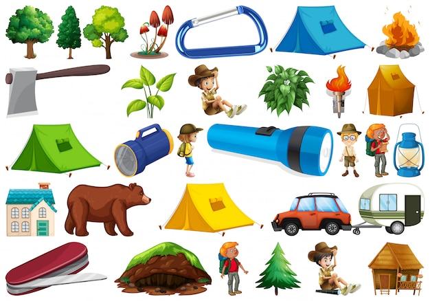 Zestaw elementu campingowego