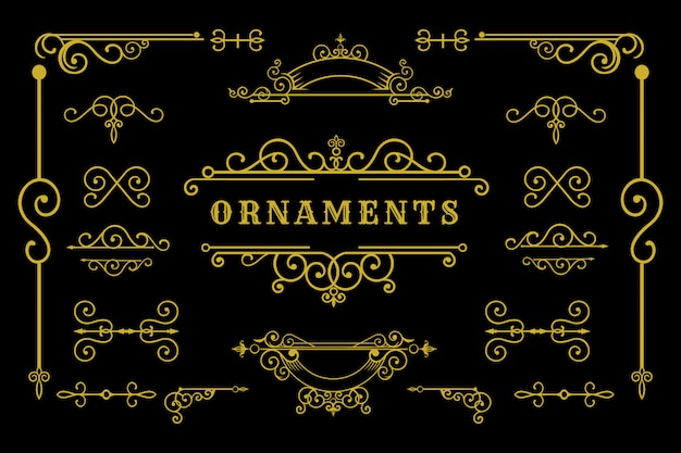 Zestaw elementu tradycyjnego ornamentu