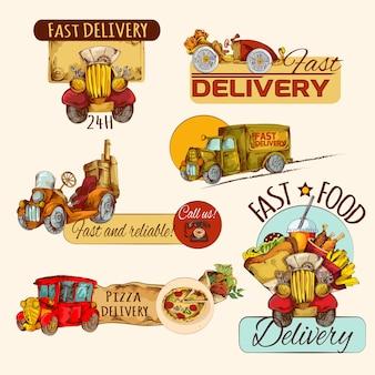 Zestaw emblematów dostawy