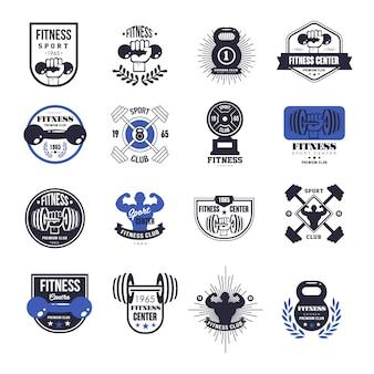 Zestaw emblematów fitness
