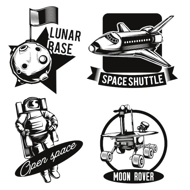 Zestaw emblematów kosmicznych