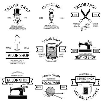 Zestaw emblematów krawiecki