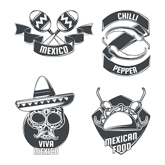 Zestaw emblematów meksykańskich