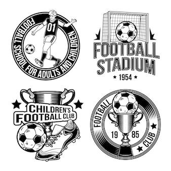 Zestaw emblematów piłkarskich