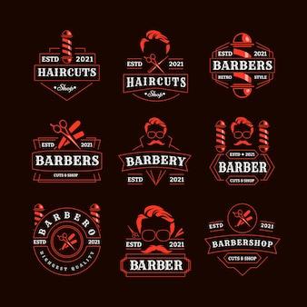 Zestaw emblematów retro dla fryzjera