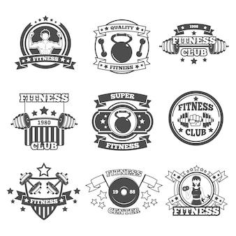 Zestaw emblematów siłowni
