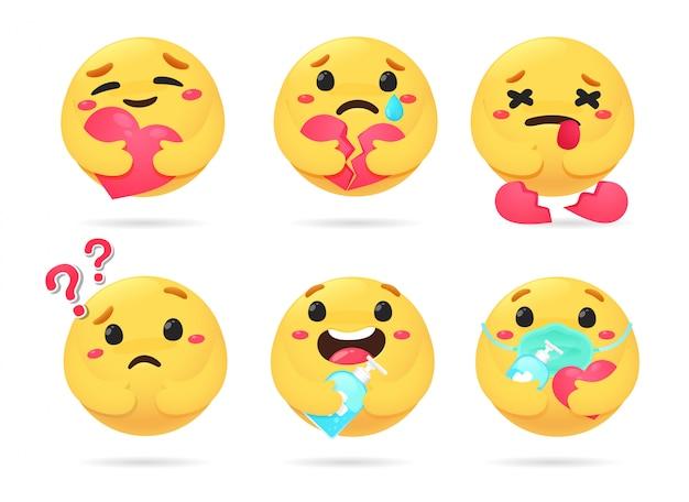 Zestaw emocji emoji