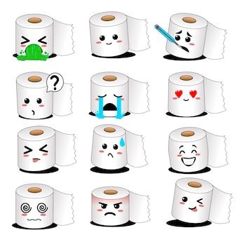 Zestaw emoji papieru