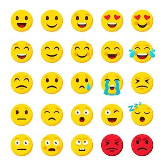 Zestaw emotikonów. emotikon kreskówka emotikony symbole cyfrowe czat obiektów ikony