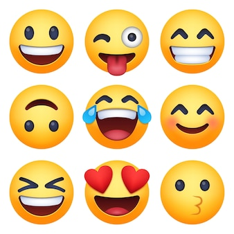 Zestaw emotikonów