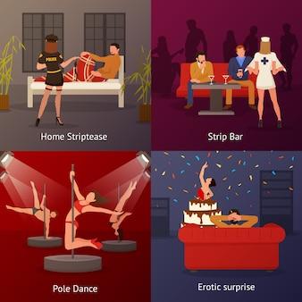 Zestaw erotycznych kompozycji tanecznych