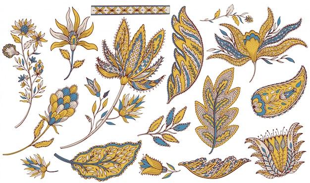Zestaw etniczny paisley