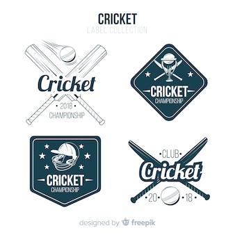 Zestaw etykiet cricket
