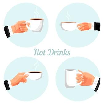 Zestaw etykiet czasu przerwy na kawę