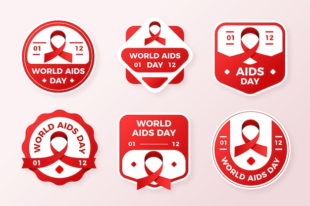 Zestaw etykiet dnia pomocy światowej