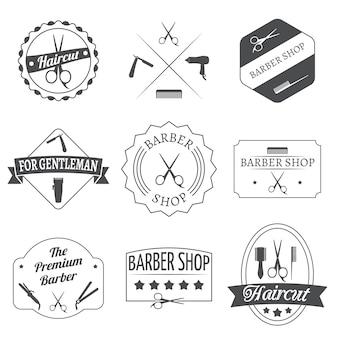 Zestaw etykiet fryzjerskich