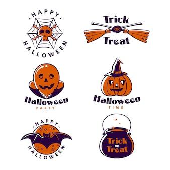 Zestaw etykiet halloween