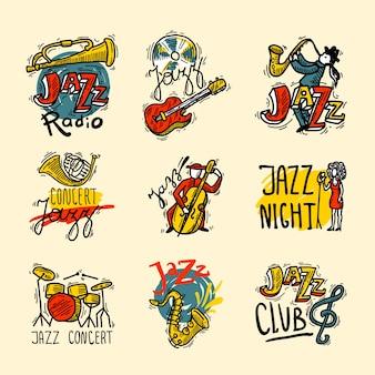 Zestaw etykiet jazzowych