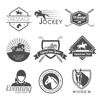 Zestaw etykiet jockey