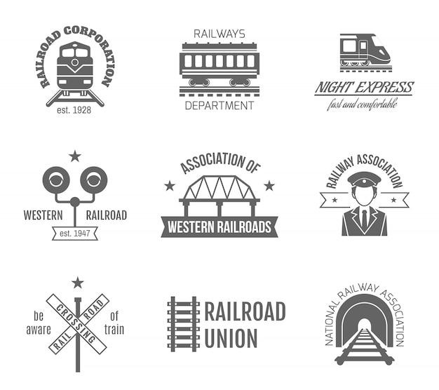 Zestaw etykiet kolejowych