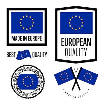 Zestaw etykiet made in europe