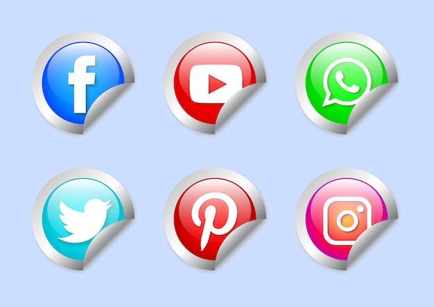 Zestaw etykiet mediów społecznościowych
