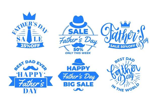 Zestaw etykiet na dzień ojca