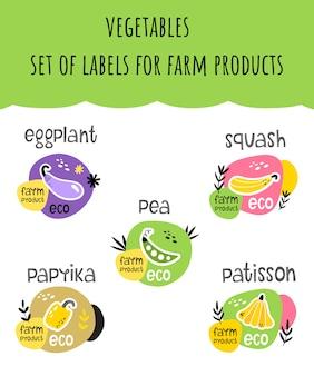 Zestaw etykiet na produkty ekologiczne