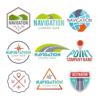 Zestaw etykiet nawigacji