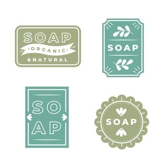 Zestaw etykiet organicznych mydła