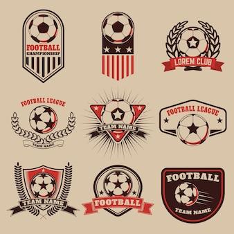 Zestaw etykiet piłkarskich