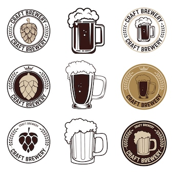Zestaw etykiet piwa rzemieślniczego