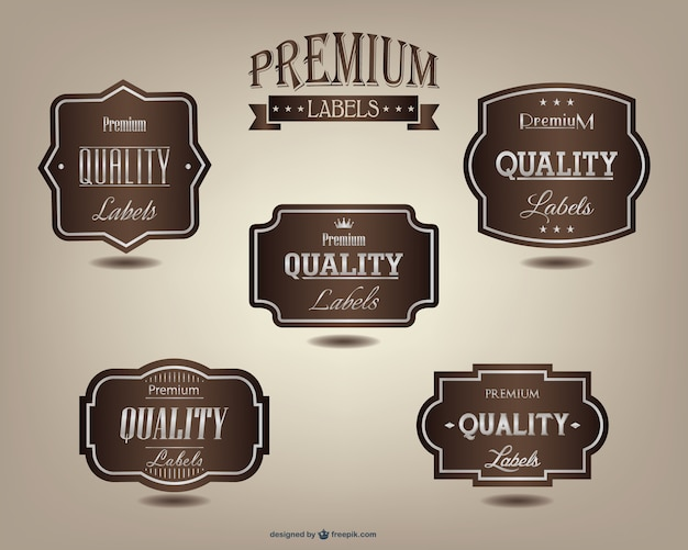 Zestaw etykiet premium