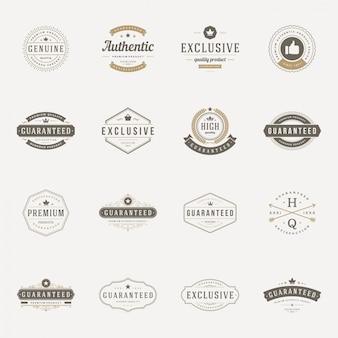 Zestaw etykiet retro vintage premium quality