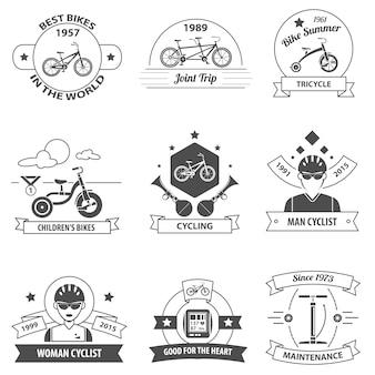 Zestaw etykiet rowerowych