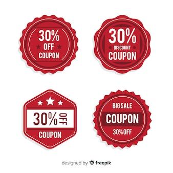 Zestaw etykiet sprzedaż kupon
