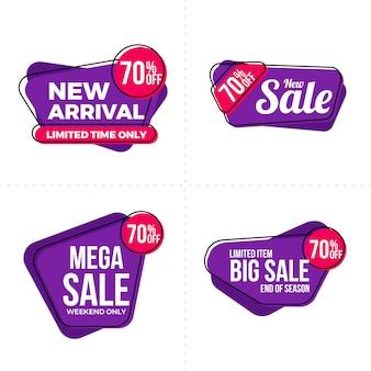 Zestaw etykiet sprzedaży