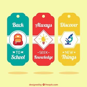 Zestaw etykiet szkolne