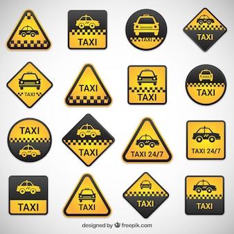 Zestaw etykiet taxi