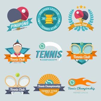 Zestaw etykiet tenisowych