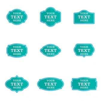 Zestaw etykiet turquoise