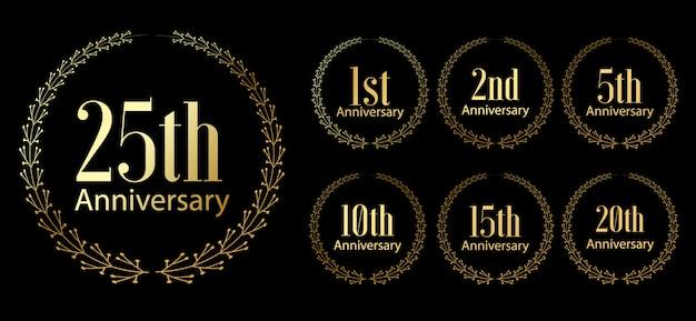 Zestaw etykiet uroczystości złotej rocznicy