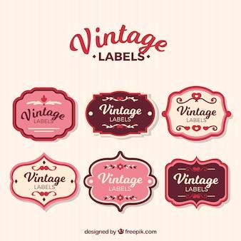 Zestaw etykiet w stylu vintage