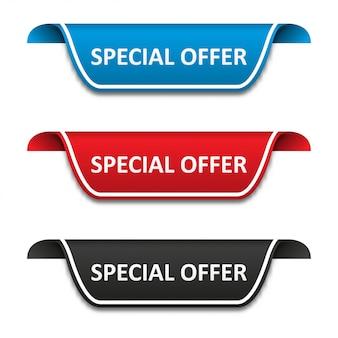 Zestaw etykiet znaczników oferty specjalnej